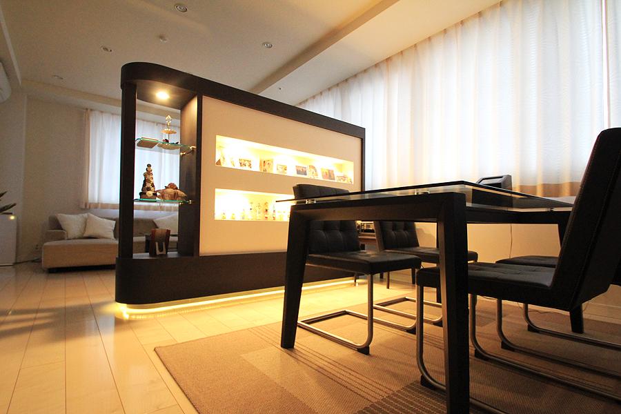 オプション家具製作、フローリング張替え、配線新設