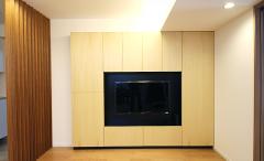 マンションオプションで壁面収納TVボードをお造りいたしました