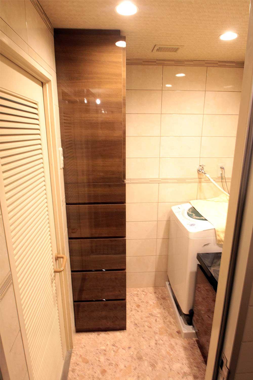 兵庫県西宮市の新築マンションで脱衣室 オプション家具