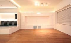 リビングにオプション家具を設置いたしました