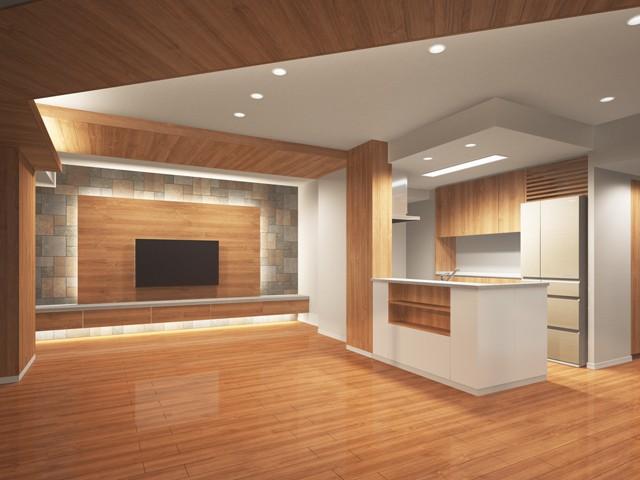 大阪市西区タワーマンションの夜インテリアをデザインしました