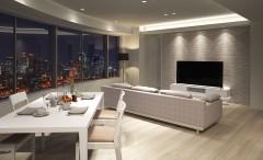 オーダー収納家具でマンション空間そのもののデザインを統一する
